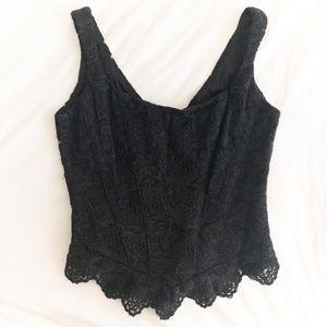 Vintage 🖤 Black Lace Bustier Top